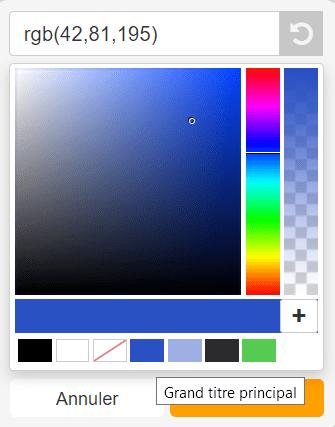 couleur landing page