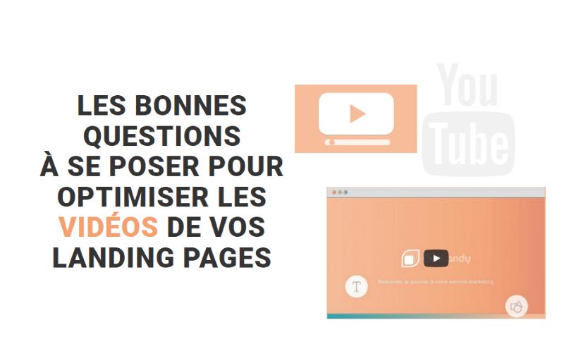 landing page et vidéo
