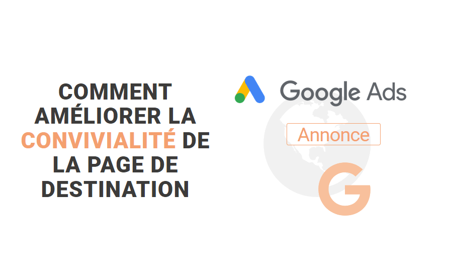 convivialité page de destination google ads